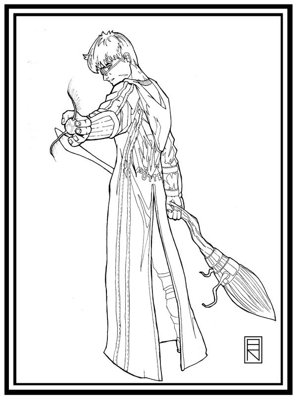 Line Drawing Harry Potter : Harry potter lineart by brooparker on deviantart