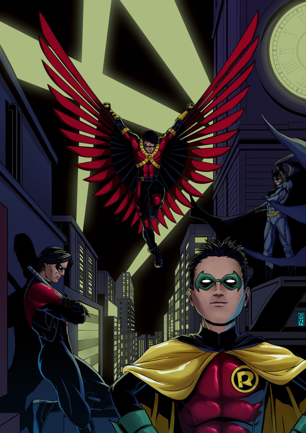 Rascunhos do Broo Batsquad___colors_by_brooparker-d8rerx0