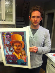 Glenn Howerton w. my Painting by FlammablePerson