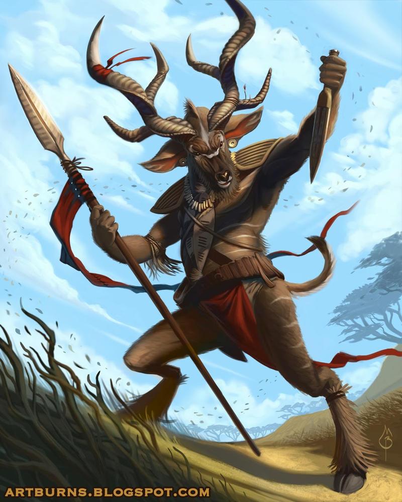 Kudu Beastmaster - Beast by FlammablePerson