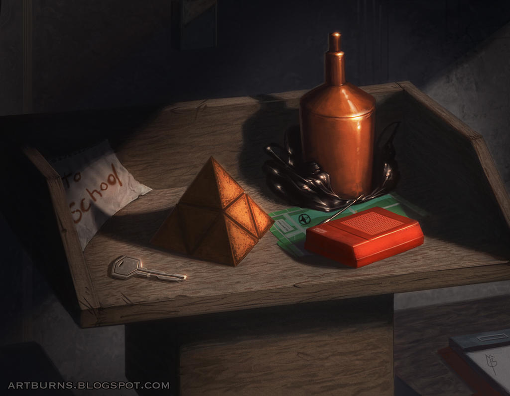 Silent Hill 1 Still Life by FlammablePerson