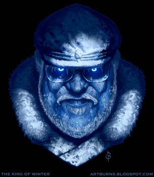 George R. R. Martin 'The King of Winter' by FlammablePerson