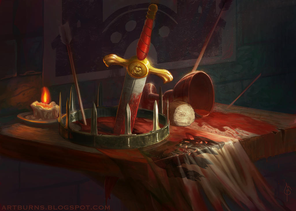 Red Wedding Still Life by FlammablePerson
