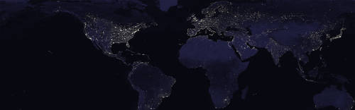 Earth at night by FalconNL