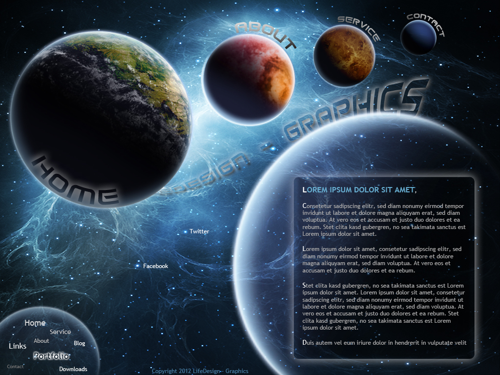 Webtemplate - Space by LifeDesign-graphics