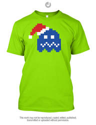 Chirstmas Retro Gaming - Pacman Ghost by Jay-Martin