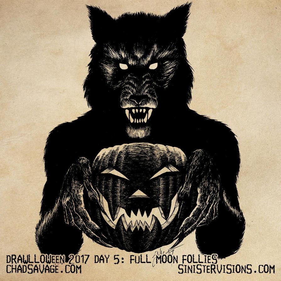 Drawlloween - Full Moon Follies by SavageSinister