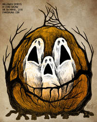 Halloween Spirits by Chad Savage by SavageSinister