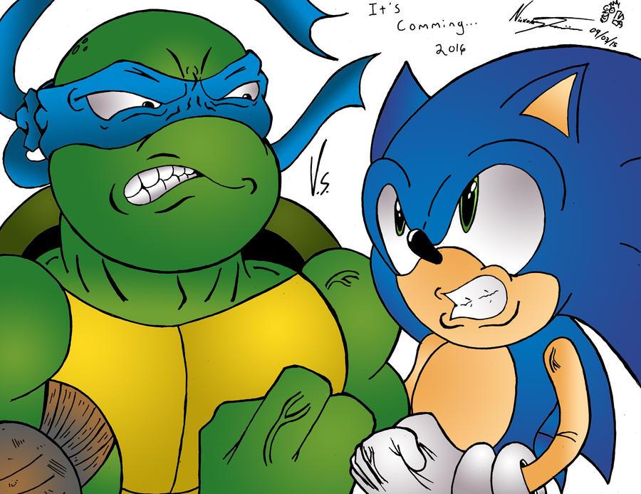 Sonic V.S. Leonardo by MrTumminia