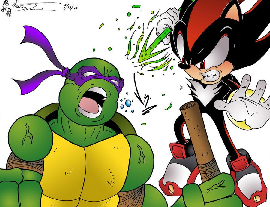 Donatello V.S. Shadow by MrTumminia