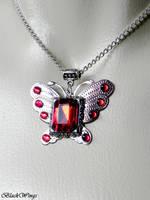 Bloody Butterfly by BlackWings-jewelry