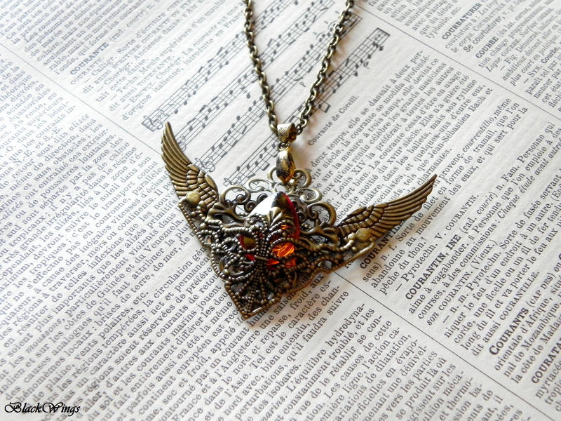 Angel Tear by BlackWings-jewelry