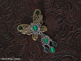 Butterfly brooch by BlackWings-jewelry