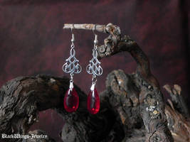 Blood drops by BlackWings-jewelry