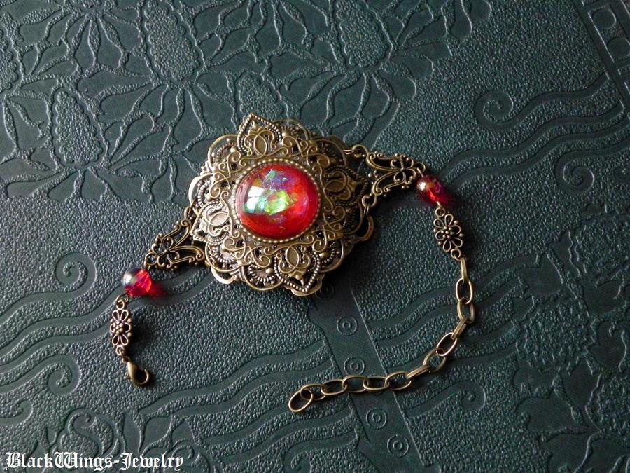 Azar cuff by BlackWings-jewelry