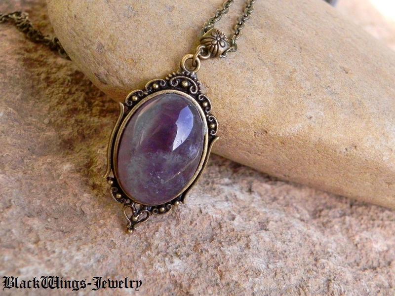 Amethyst pendant by BlackWings-jewelry