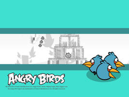 Angry Birds Blue Birds Wallpaper by Jeremiekent13