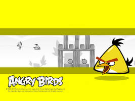 Angry Birds Yellow Bird Wallpaper by Jeremiekent13