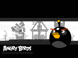 Angry Birds Black Bird Wallpaper by Jeremiekent13