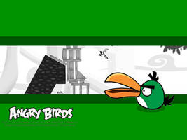 Angry Birds Green Bird Wallpaper by Jeremiekent13