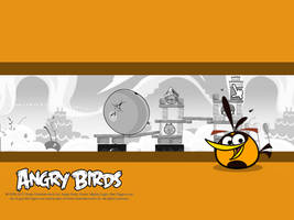 Angry Birds Orange Bird Wallpaper by Jeremiekent13