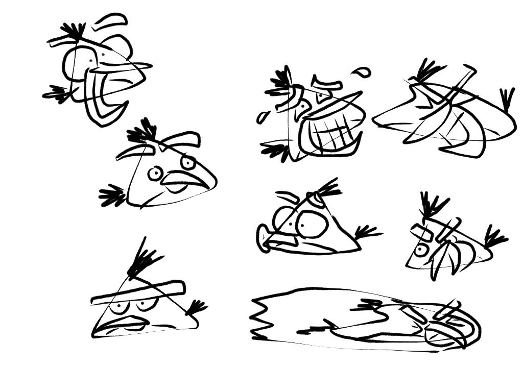 My angry birds sketchyellow bird by jeremiekent13
