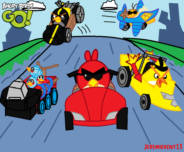 Angry Birds Go Kart Coloring Pages Angry birds go!.....is a kart