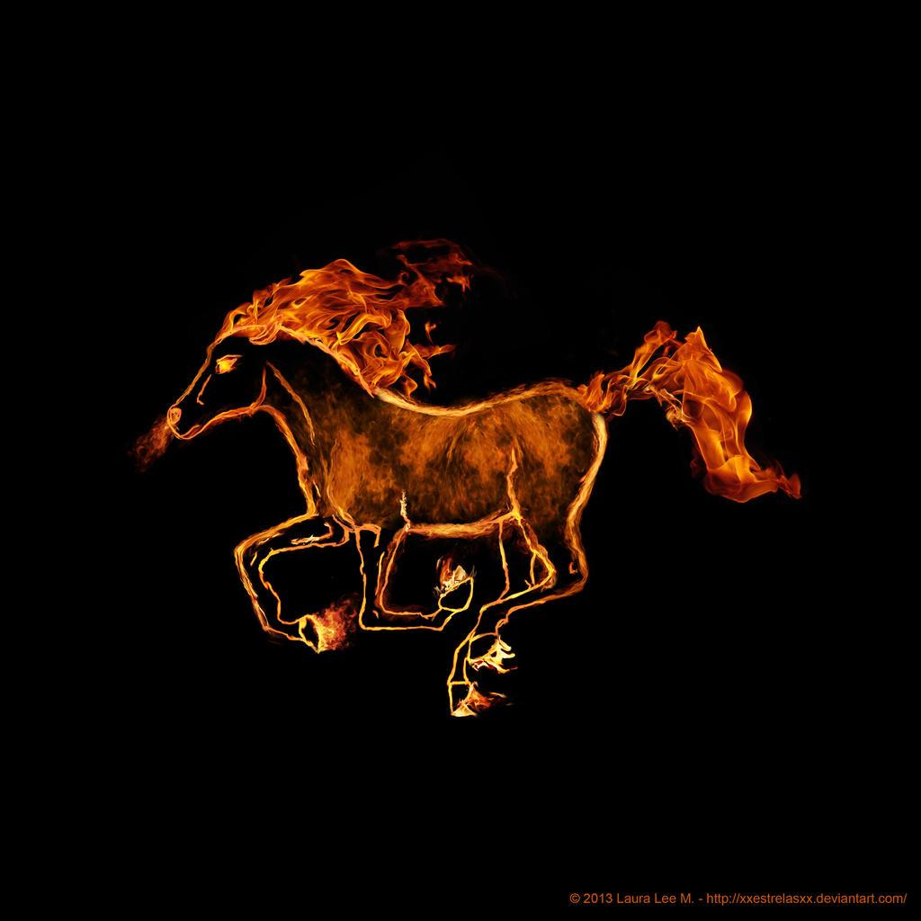 Fire Horse By LauraMartinArt