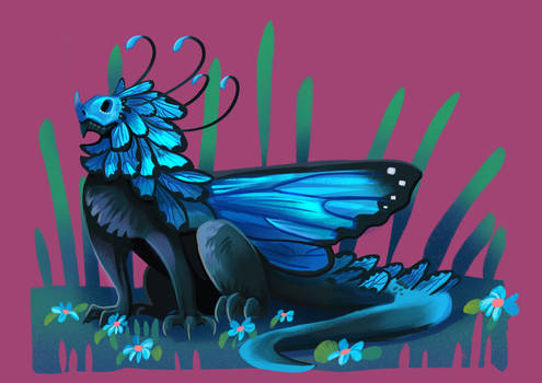 Tiny Insect Dragon - Morphus Butterfly