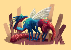 Tiny Insect Dragon (16/31)  - Jewel Wasp