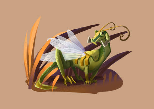 Tiny Insect Dragon (24/31) - Grass hopper
