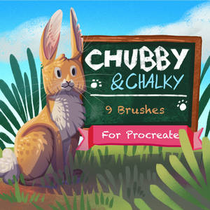 Chubby and Chalky - Chalk Brushes for Procreate