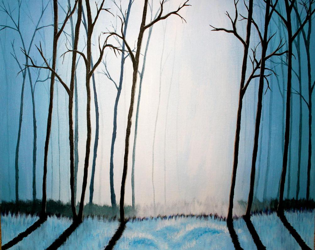 blue forest by natalieroseninja on deviantart