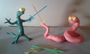 Duel of Reptiles by RUUMIX