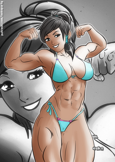 Korra Double guns Bikini by nekolab
