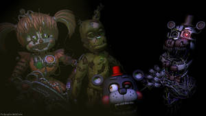 -What a great happy family!- [C4D/FNAF] by TheSpringYanaWOO