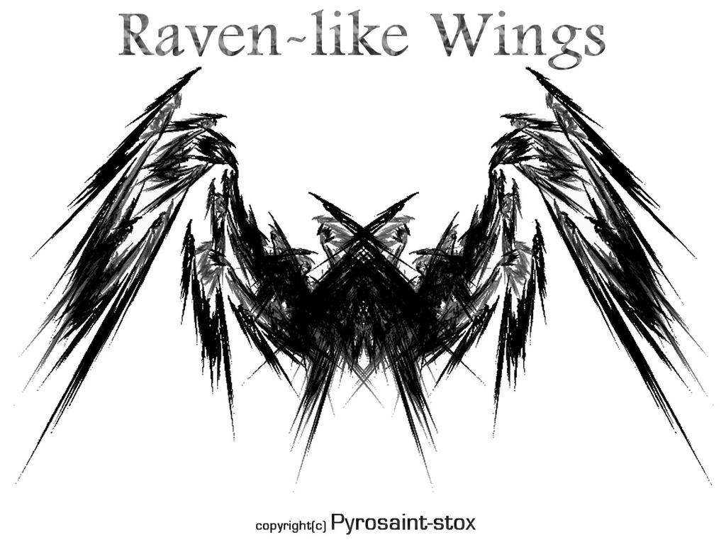 Raven-like Wings by Pyrosaint-Stox