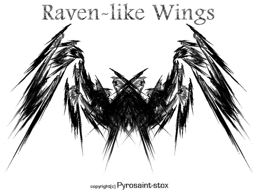 Raven-like Wings by Pyrosaint-Stox