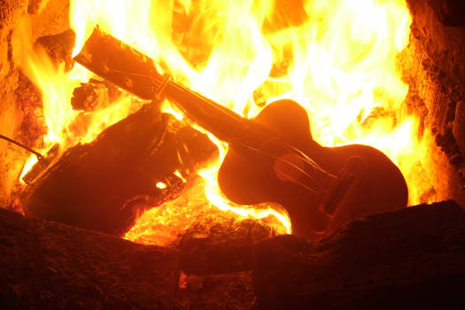 Burning Guitar 003