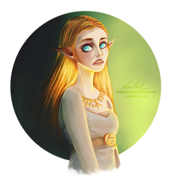 Breath of the Wild: Zelda by Nadiaxel