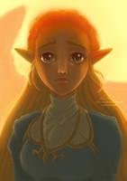 Princess Zelda Portrait by Nadiaxel