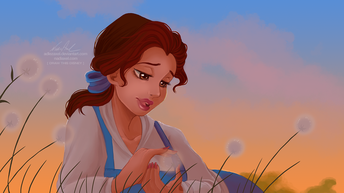 how to draw disney belle