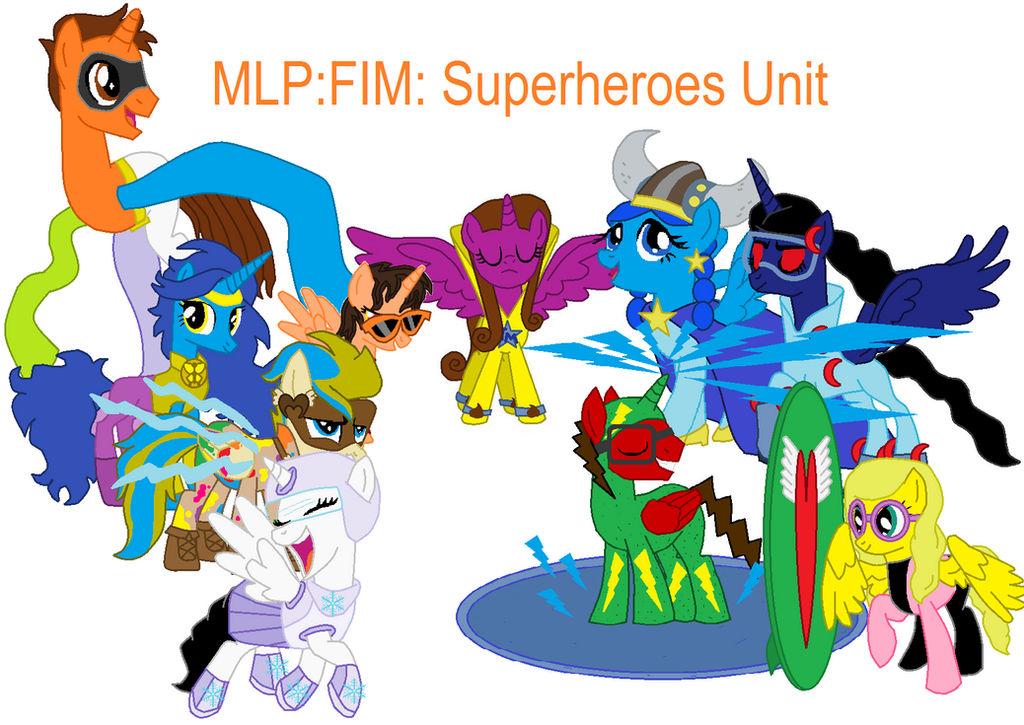 MLP: FIM: Superheroes Unit Cover
