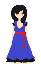 Deluna in her prom dress