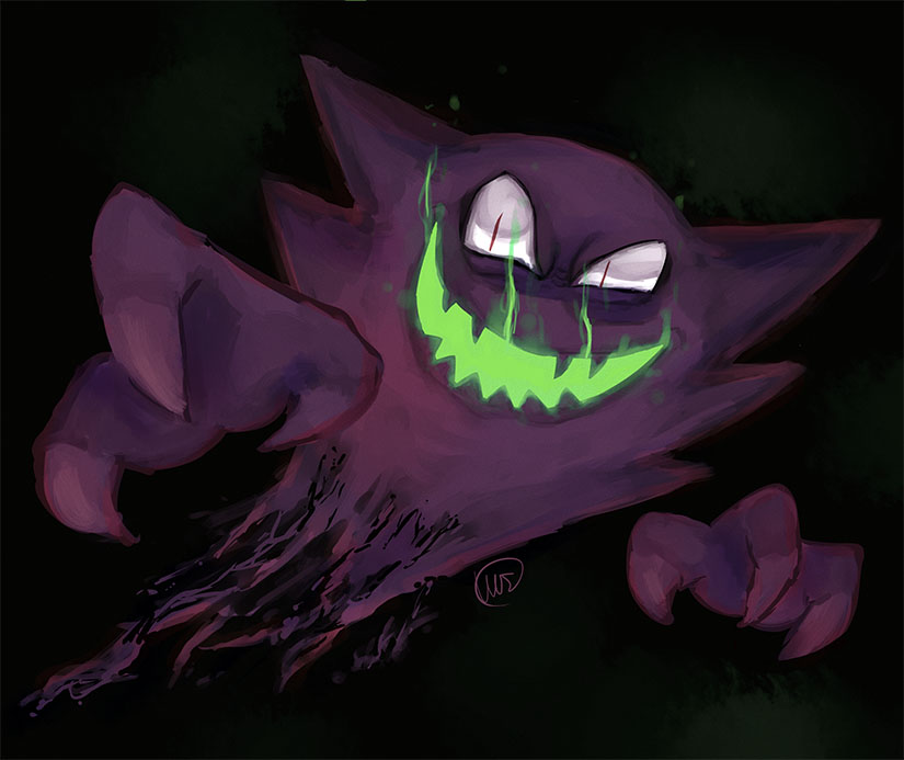 Haunter Pokemon Drawing Images | Pokemon Images