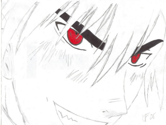 how to draw demon eyes