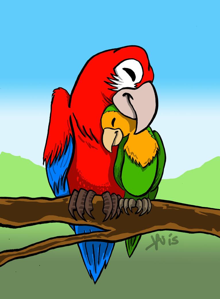 Lovebirds by noblebear