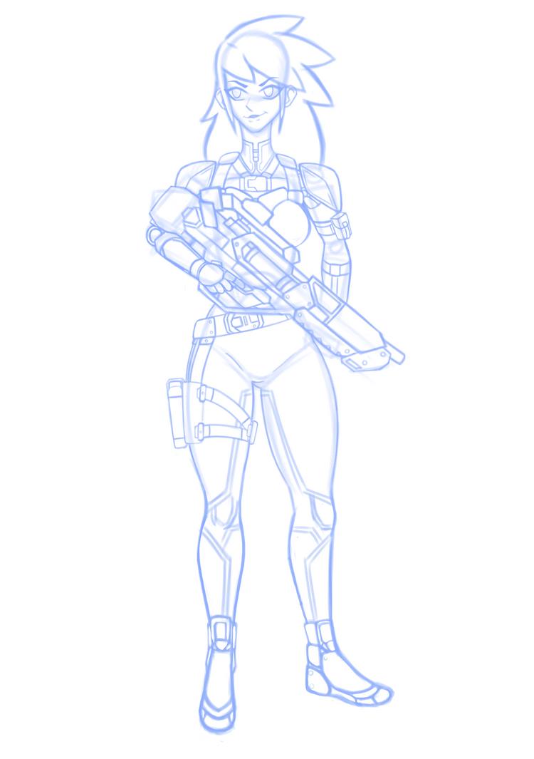 Soldier Sketch by MiniWeeb