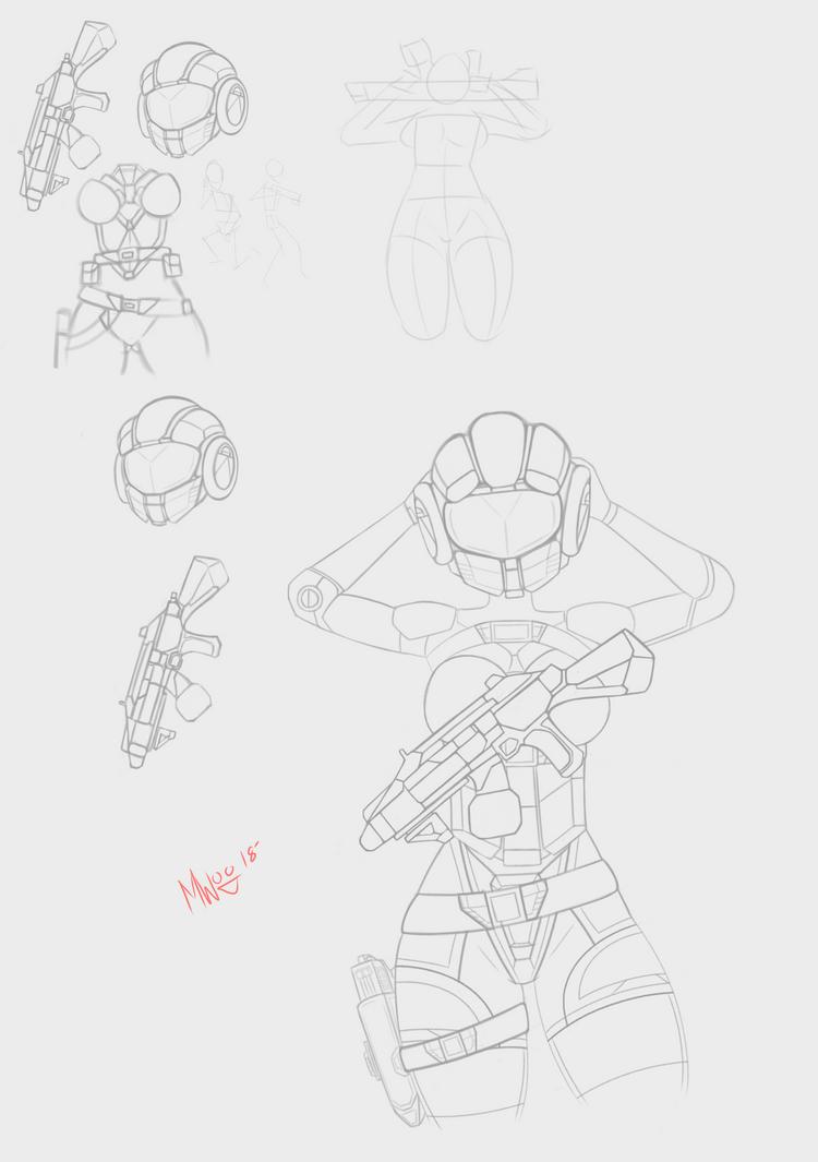 SciFi Sketch by MiniWeeb