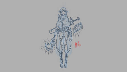 Mage Sketch by MiniWeeb